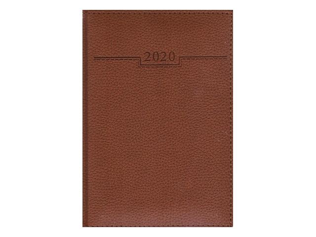 Ежедневник 2020 А5 кожзам 176л Armonia Elefant коричневый Hatber 176ЕдД5_00204