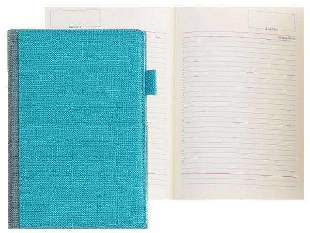 Ежедневник А5 кожзам 136л с петлей для ручки зелено-голубой Mazari M-3594-89