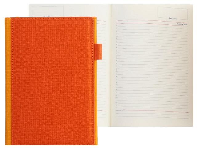 Ежедневник А5 кожзам 136л с петлей для ручки оранжевый Mazari M-3594-77