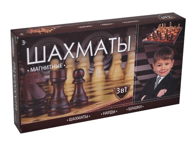 Шахматы 3 в 1 магнитные Играем вместе G049-H37025R