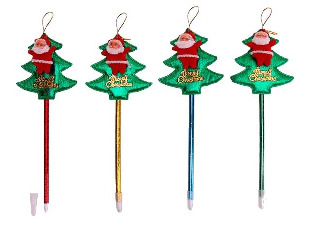 Ручка шариковая детская Mazari Christmas синяя 0.7мм M-7550-70