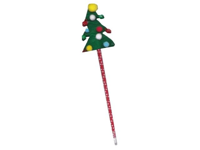 Ручка шариковая детская Mazari Christmas Tree синяя 0.7мм M-7557-70