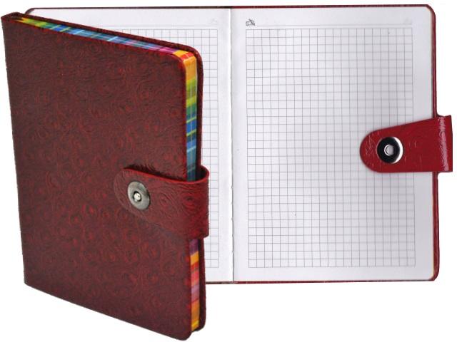 Записная книжка В6 Schreiber кожзам 100л на кнопке S-3721