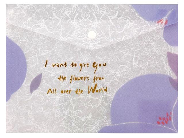 Папка конверт на кнопке А4 лавандовая Fleur 180 мкм Axent 1495-11-A