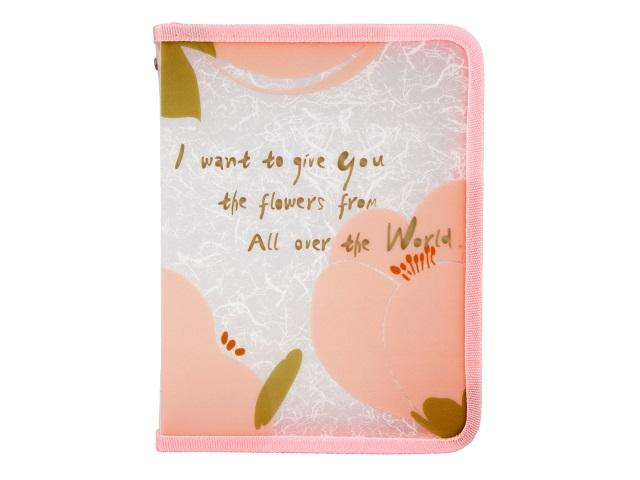 Папка на молнии А4 Axent Fleur розовая 1804-10-A\12