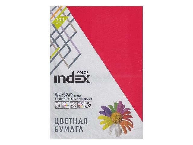 Бумага А4  80 г/м2 100 л. Index интенсив красный IC28/100