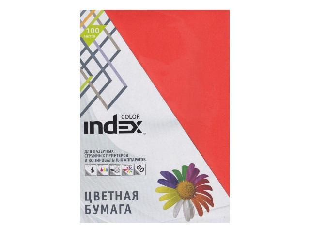 Бумага А4  80 г/м2 100 л. Index интенсив ярко-оранжевый IC48/100