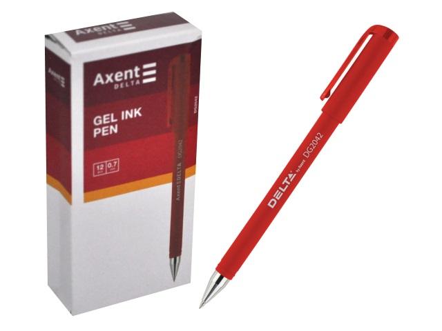 Ручка гелевая Axent Delta красная 0.7мм DG2042-06