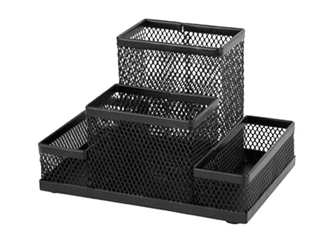 Подставка-органайзер Axent 4 отделения металл сетка черная 2117-01-A
