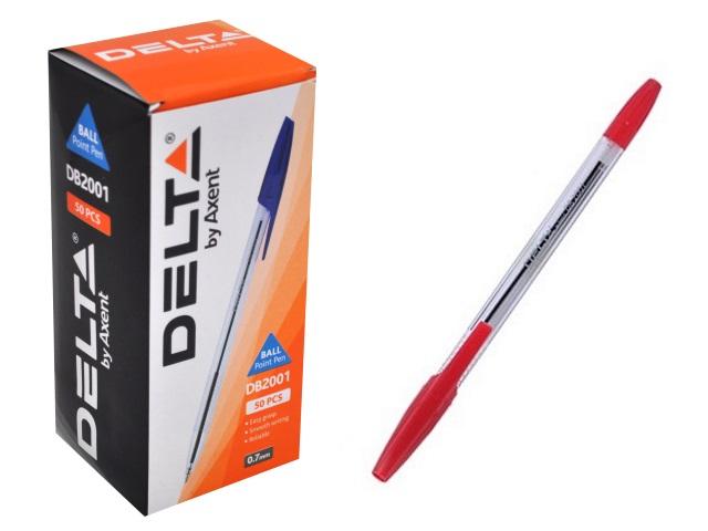 Ручка шариковая Axent Delta красная 0.7мм DB2001-06