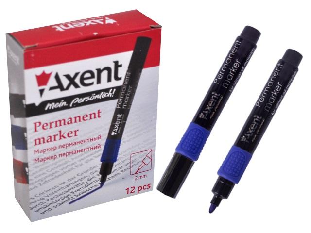 Маркер перманентный Axent синий круглый 2мм 2541-02-A