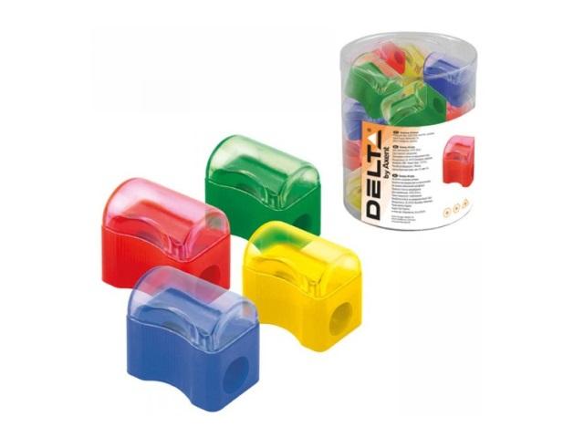 Точилка пластик Axent Delta Comfy цветная D9702