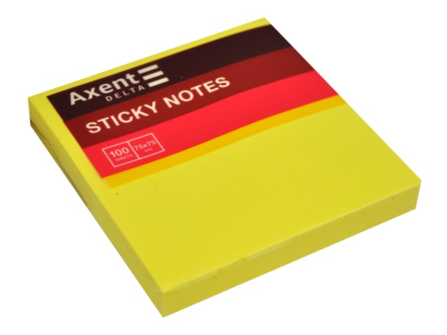 Стикер Axent 75* 75мм 100л желтый D3414-11
