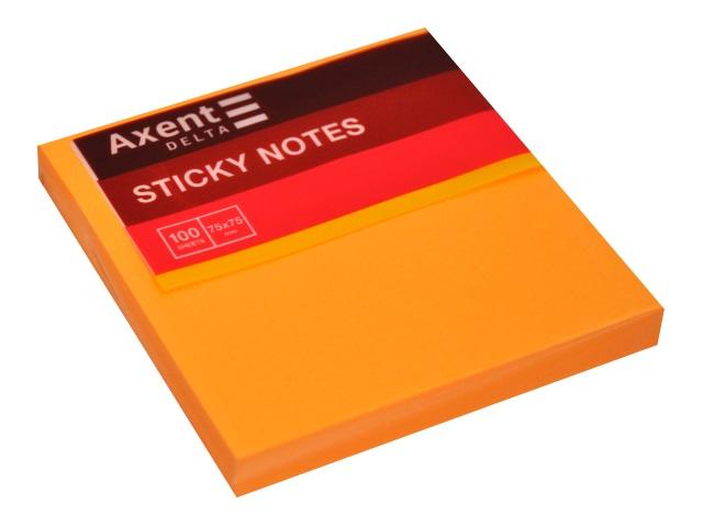 Стикер Axent 75* 75мм 100л оранжевый D3414-15