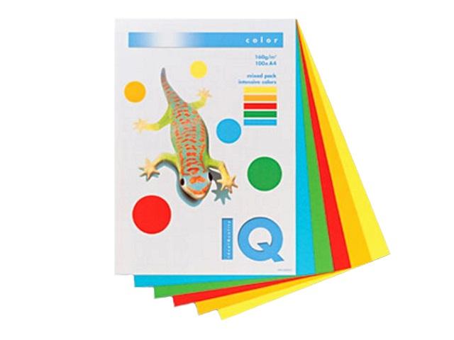 Бумага А4  80 г/м2 (5 цветов по 50л) 250 л. IQ Color интенсив RB02 133768