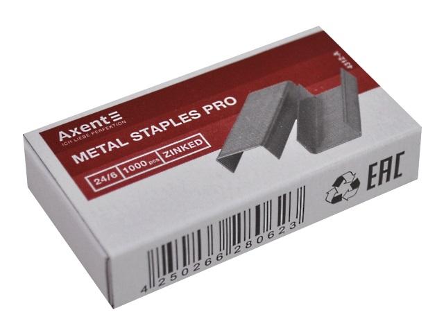 Скоба №24/6 Axent Pro 1000 шт. 4312-A