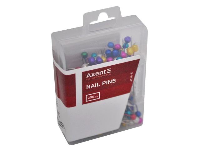 Булавки Axent 200шт 34мм цветные 4216-A