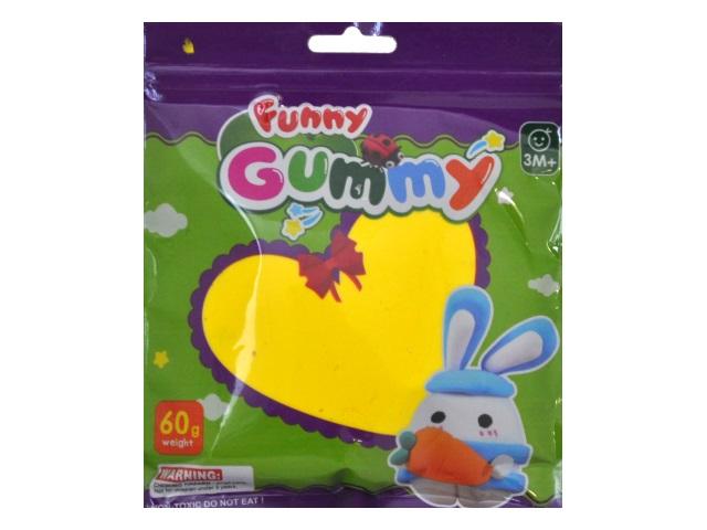 Тесто для лепки  1 цвет 60г  Funny Gummy в пакете GL60622U