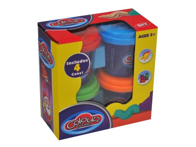 Тесто для лепки  4 цвета Colour Dough 9201