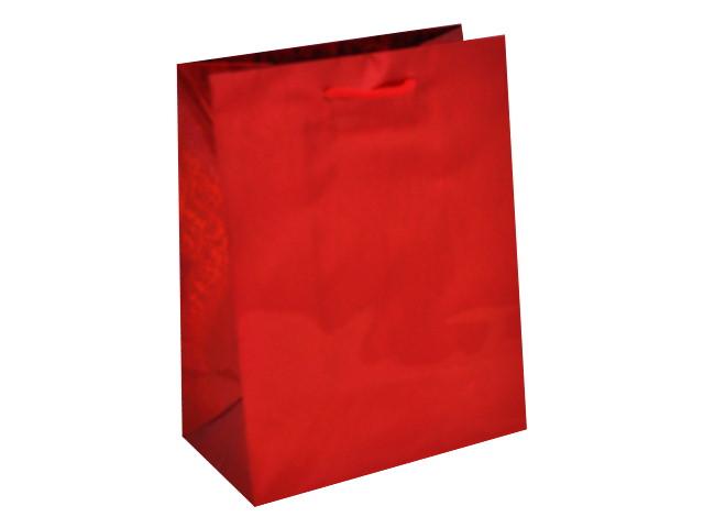Пакет подарочный бумажный 18*23*10см Красное сияние голография Miland ПКП-0912