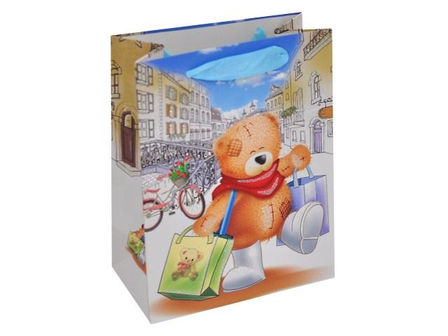 Пакет подарочный бумажный 18*23*10см Веселый мишка Miland ПП-0183