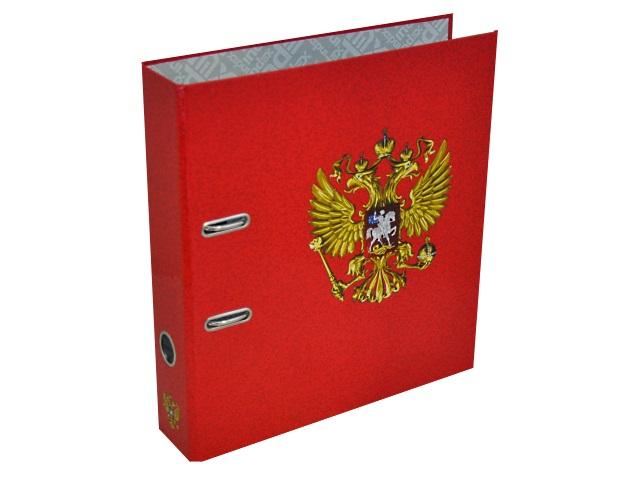 Регистратор  А4/80 Index ламинированный Герб России красный IN111116