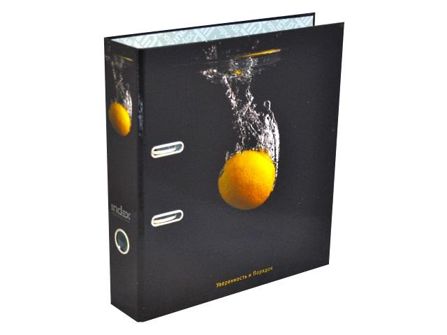 Регистратор  А4/80 Index ламинированный Черная вода Лимон IN111135
