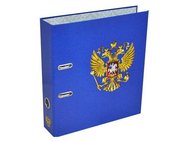 Регистратор  А4/80 Index ламинированный Герб России синий IN111117