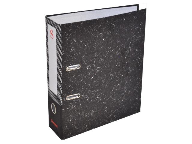 Регистратор  А4/100 Sponsor черный мрамор с металлической окантовкой SPR 10-20 L
