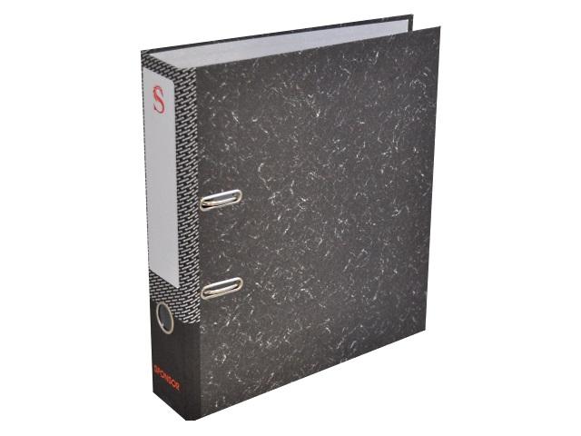 Регистратор  А4/80 Sponsor черный мрамор SPR 8-24