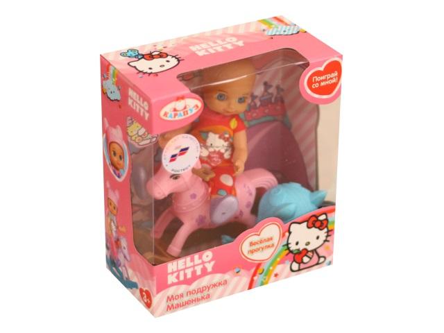 Кукла Машенька 12см Веселая прогулка Карапуз YL1701P-RU-HK