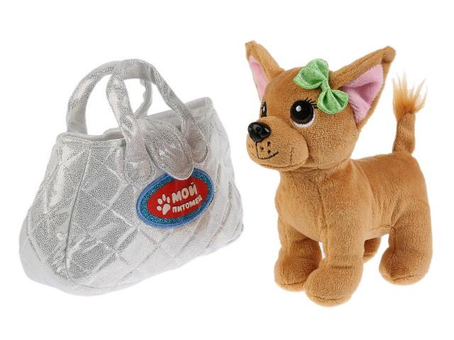 Мягкая игрушка Собака 15см в серебряной сумке CT181133-19