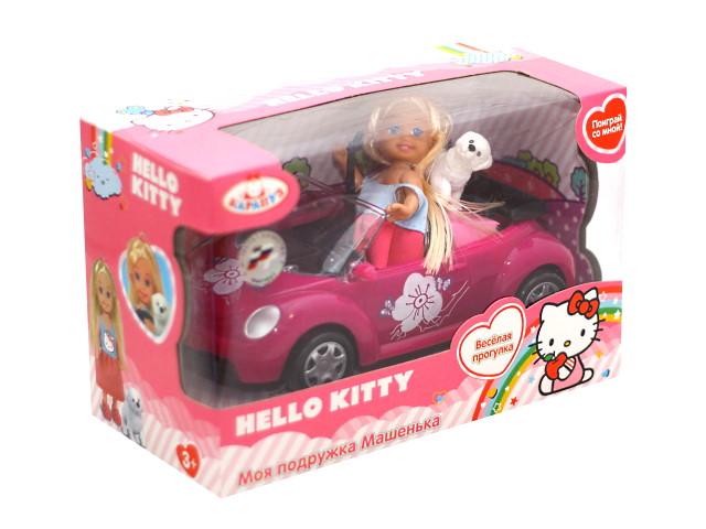 Кукла Машенька 12см с машиной и собакой Карапуз MARY006X-HK