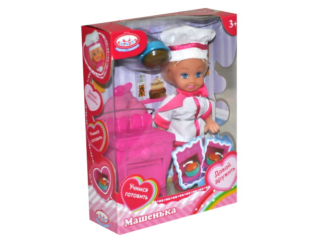 Кукла Машенька 12см с кухней Карапуз MARY019X
