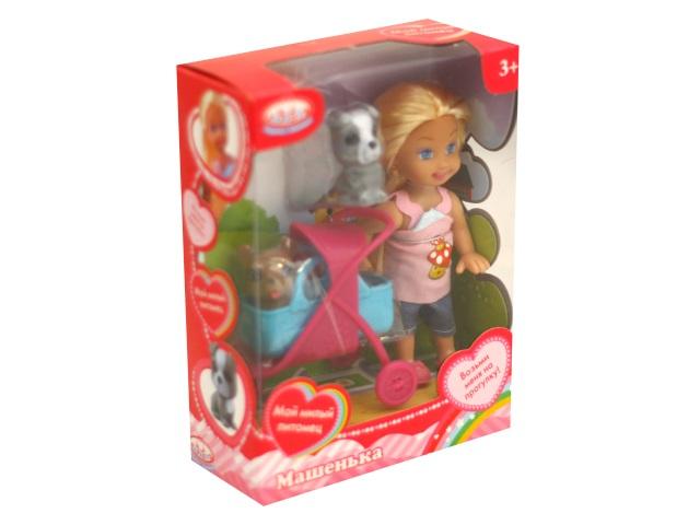 Кукла Машенька 12см 2 питомца Карапуз MARY020X-HK
