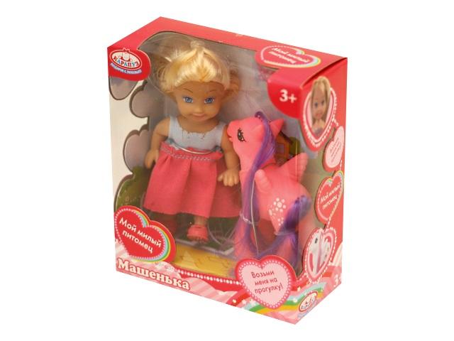 Кукла Машенька 12см с пони Карапуз MARY024X-RU