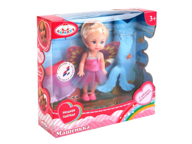 Кукла Машенька 12см Принцесса Русалка Карапуз MARY10724-BB