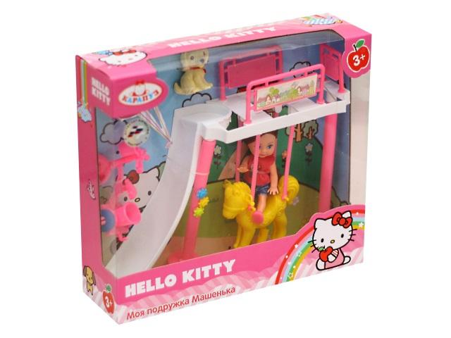 Кукла Машенька 12см с игровой площадкой Карапуз MARY1516-BB-HK