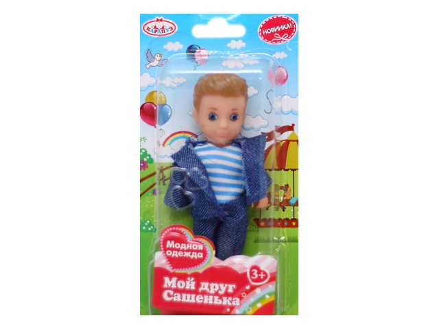 Кукла Сашенька 12см Карапуз SASHA02-BB
