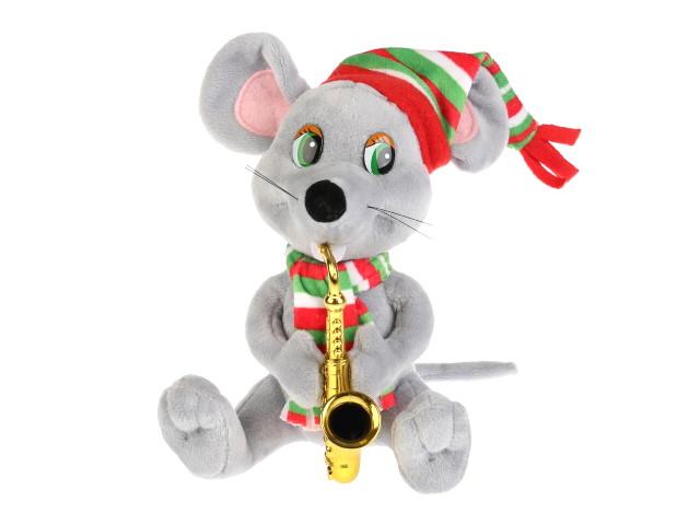 Мягкая игрушка Мышка 18см с саксофоном Мульти-Пульти F9697-18NS