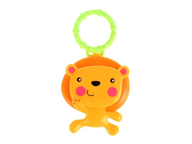 Погремушка Лев со съемным кольцом Умка KK2680-3-R