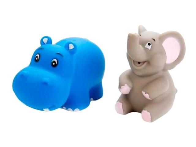 Игрушка для купания 2 шт. Слон и бегемот Играем вместе LXB50_170