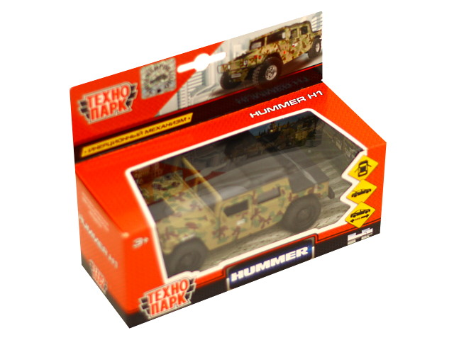 Машина металл Технопарк Хаммер пикап Н1 военный 12см SB-18-09-H1-M(GY)-WB