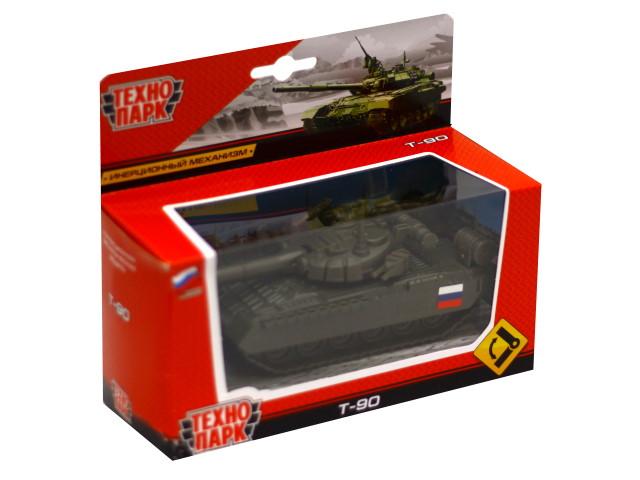 Танк металл 12см хаки Т-90 Технопарк SB-16-19-T90-G-WB