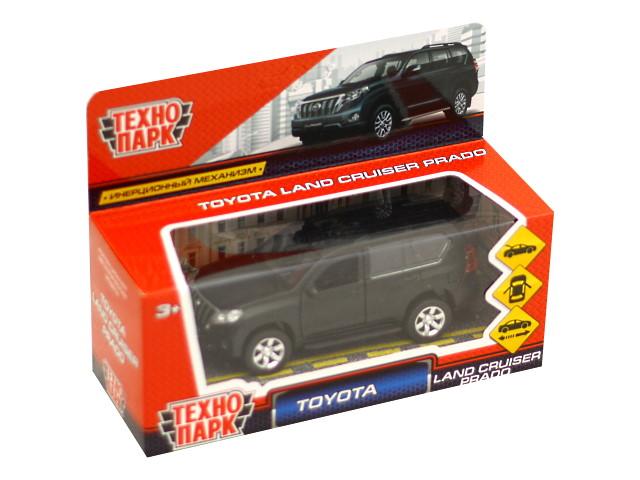 Машина металл Технопарк Toyota Prado 12см черная матовая PRADO-BE