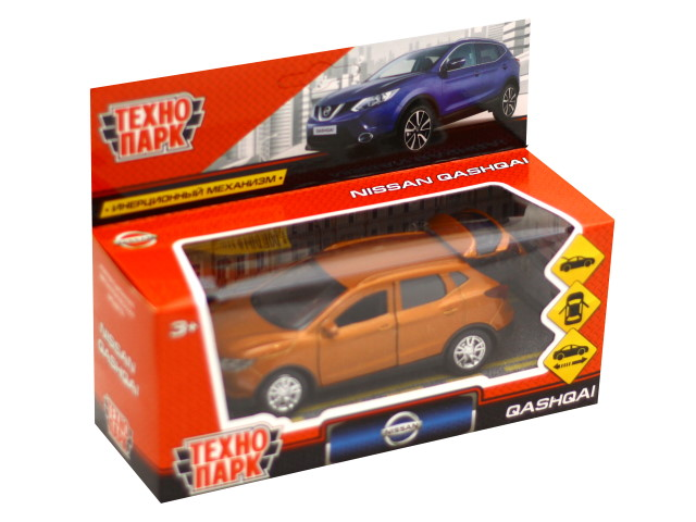 Машина металл Технопарк Nissan Qashqai 12см золотая QASHQAI-GD