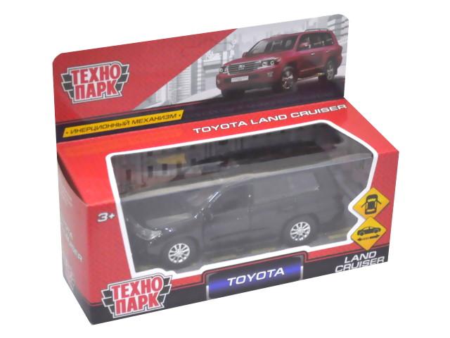 Машина металл Технопарк Toyota Land Cruiser 12см черная матовая CRUISER-BK