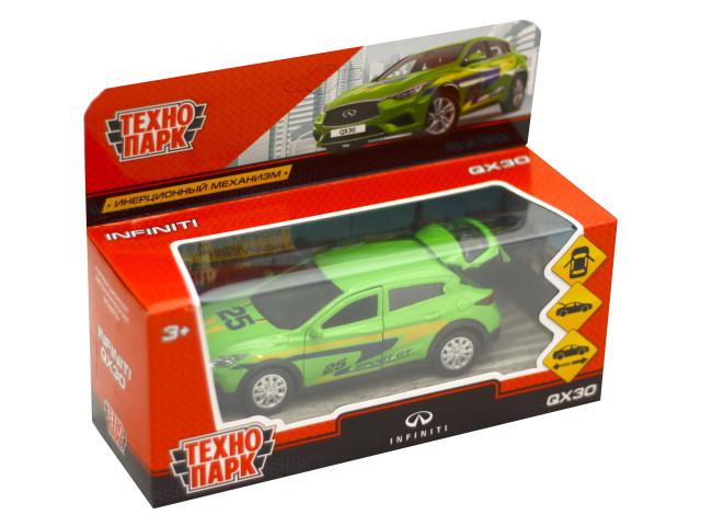 Машина металл Технопарк Infiniti QX30 Спорт 12см зеленая QX30-S