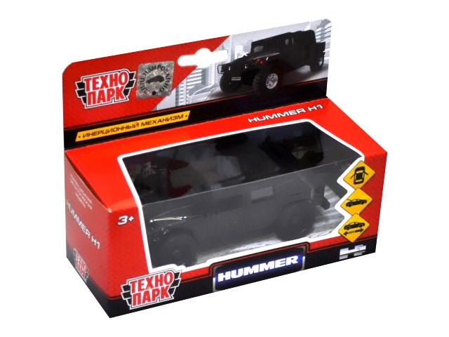 Машина металл Технопарк Хаммер пикап Н1 черный 12см SB-18-09-H1-N(B)-WB