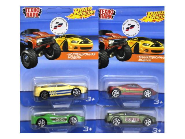 Машина металл Технопарк Road Racing 7.5см микс YG94968-R